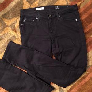 AG Stevie Slim Straight Black Jean